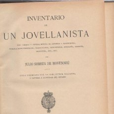 Libros: INVENTARIO DE UN JOVELLANISTA - SOMOZA DE MONTSORIÚ, JULIO. Lote 243970625