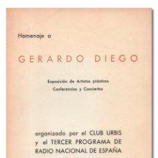Libros: HOMENAJE A GERARDO DIEGO. Lote 244521580