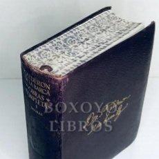 Libros: CALDERÓN DE LA BARCA, DON PEDRO. OBRAS COMPLETAS. TOMO I. DRAMAS. EDICIÓN, PRÓLOGO Y NOTAS POR EL PR. Lote 244688295