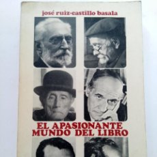 Libros: EL APASIONANTE MUNDO DEL LIBRO - JOSÉ RUIZ-CASTILLO BASALA. Lote 244706150