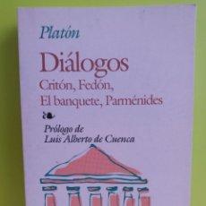 Libros: PLATON // DIALOGOS : CRITON,FEDON,EL BANQUETE,PARMENIDES -- EDAF. Lote 244787355