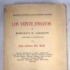 Libros: LOS VEINTE ENSAYOS. Lote 245165700