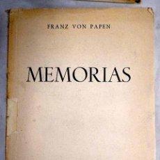 Libros: MEMORIAS. Lote 245169290