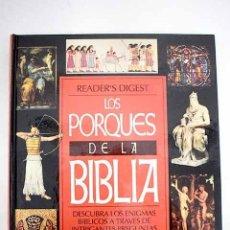 Libros: LOS PORQUÉS DE LA BIBLIA. Lote 245169340