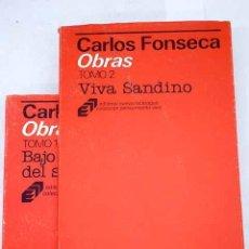 Libros: OBRAS:: BAJO LA BANDERA DEL SANDINISMO ; VIVA SANDINO. Lote 245176505