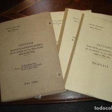 Libros: INFORME A CERCA DE CARACTERISTICAS GEOLOGICAS DE EMBALSE EN LAS SALAS (LEON) SOBRE EL RIO ESLA.1950. Lote 245569930
