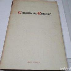 Libros: CONSTITUCIÓN ESPAÑOLA W5636. Lote 245756170