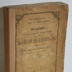 Libros: RELACIONES DE LA VIDA Y AVENTURAS DEL ESCUDERO MARCOS DE OBREGÓN - ESPINEL, VICENTE. Lote 245892035