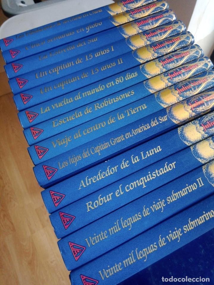 COLECCIÓN VIAJES EXTRAORDINARIOS JULIO VERNE - EDICIONES RUEDA - ILUSTRADO-13 VOLUMENES (Libros sin clasificar)