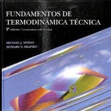 Libros: FUNDAMENTOS DE TERMODINÁMICA TÉCNICA. Lote 245951775