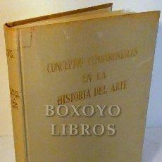 Libros: WÖLFFLIN, ENRIQUE. CONCEPTOS FUNDAMENTALES EN HISTORIA DEL ARTE. TRADUCCIÓN DE JOSÉ MORENO VILLA. Lote 246094790