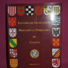 Libros: ESTUDIOS DE GENEALOGÍA HERÁLDICA Y NOBILIARIA DE GALICIA. Lote 246470825