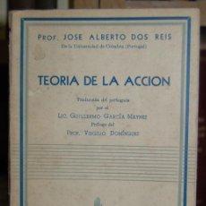 Libros: TEORIA DE LA ACCION. TRADUCCIÓN DEL PORTUGUÉS POR GUILLERMO GARCÍA MAYNEZ. PRÓLOGO DE VIRGILIO DOMÍN. Lote 246471135