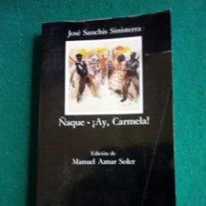 Libros: LIBRO DE JOSÉ SANCHIS SINISTERRA 2009 - ÑAQUE ; AY., CARMELA - CATEDRA. Lote 246544425
