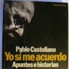 Libros: YO SÍ ME ACUERDO: APUNTES E HISTORIAS. Lote 247394085