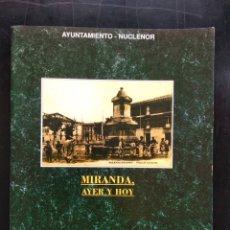 Libros: MIRANDA DE EBRO LIBRITO SOBRE POSTALES , MIRANDA , AYER Y HOY. Lote 248186905