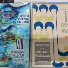 Libros: LOTE 6 REVISTAS OBRAS PUBLICAS CONGRESO INTERNACIONAL GRANDES PRESAS: VIII, IX, X, XIX, XX Y XXI.. Lote 252113080