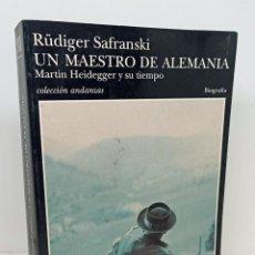 Libros: UN MAESTRO DE ALEMANIA - SAFRANSKI, RÜDIGER GABÁS, RAÚL (TRAD.). Lote 253596640