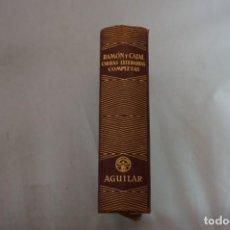 Libros: OBRAS LITERARIAS COMPLETAS - SANTIAGO RAMON Y CAJAL - AGUILAR 1950. Lote 254519280
