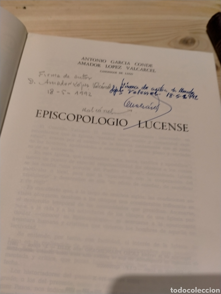 Libros: EPISCOPOLOGIO LUCENSE. GARCIA CONDE. LOPEZ VALCARCEL - Foto 3 - 254548380