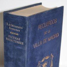 Libros: ESCENAS MATRITENSES - MESONERO ROMANOS, RAMÓN. Lote 254591805