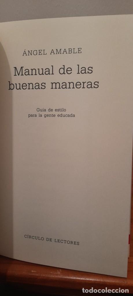 Libros: MANUAL DE LAS BUENAS MANERAS - Foto 7 - 254603630