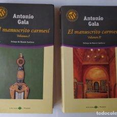Libros: EL MANUSCRITO CARMESÍ. (2 TOMOS) - GALA, ANTONIO (1936-). Lote 254626330