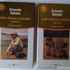 Libros: SOBRE HÉROES Y TUMBAS. (2 TOMOS) - SÁBATO, ERNESTO (1911-2011). Lote 254626365