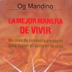 Libros: LA MEJOR MANERA DE VIVIR. Lote 254706635