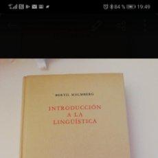 Libros: INTRODUCCIÓN A LA LINGUÍSTICA. BERTIL MALBERG.. Lote 255954825