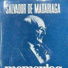 Libros: MEMORIAS (1921-1936) AMANECER SIN MEDIODÍA. Lote 255957215