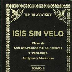 Livres: ISIS SIN VELO T,II - BLAVATSKY. Lote 256673240