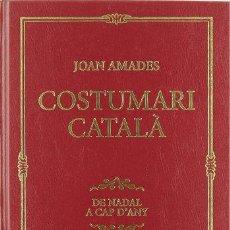 Libros: COSTUMARI CATALA, - JOAN AMADES GELATS. Lote 256962540