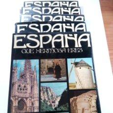 Libros: ESPAÑA QUE HERMOSA ERES - 5 TOMOS ENCICLOPEDIA COMPLETA - PLAZA & JANÉS. Lote 257684120