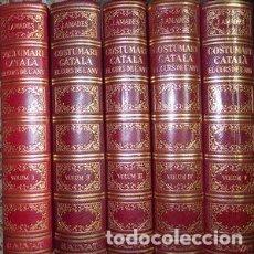 Libros: COSTUMARI CATALÀ. EL CURS DE L´ANY, 5 VOLUMS-JOAN AMADES. SALVAT EDITORES 1ª EDICIÓ 1950 - AMADES,. Lote 257705655
