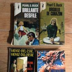 Libros: LOTE 7 LIBRO PEARL S. BUCK - ORGULLO DE CORAZON VIENTO DEL ESTE ESTIRPE DEL DRAGÓN BRILLANTE DESFILE. Lote 257980130