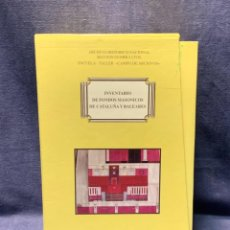 Libros: INVENTARIO FONDOS MASONICOS CATALUÑA BALEARES 4 TOMOS MINISTERIO CULTURA 25X17X10CMS. Lote 258033035