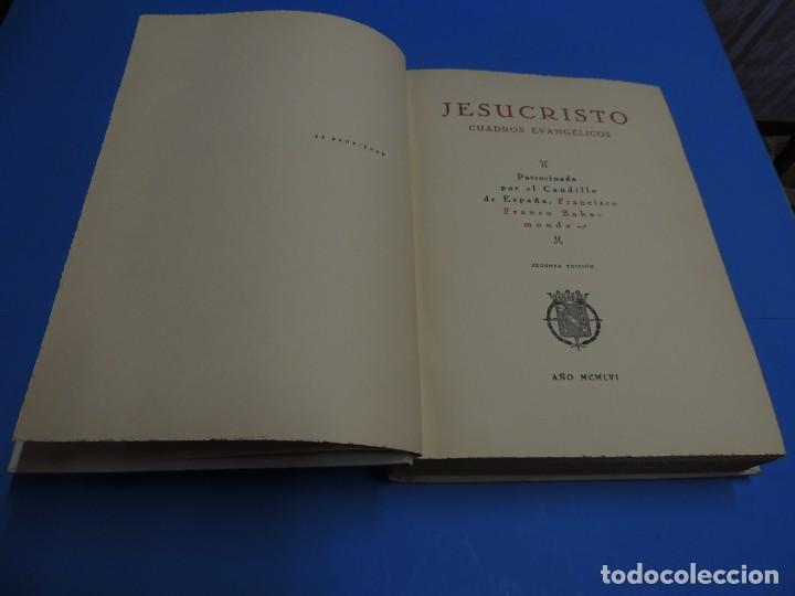 Libros: JESUCRISTO. CUADROS EVANGELICOS. Patrocinada por el Caudillo de España, Francisco Franco Bahamonde. - Foto 3 - 260559515