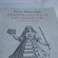 Libros: SLOTERDIJK. PETER SLOTERDIJK. TEMPERAMENTOS FILOSÓFICOS. SIRUELA. 2020.. Lote 260597235