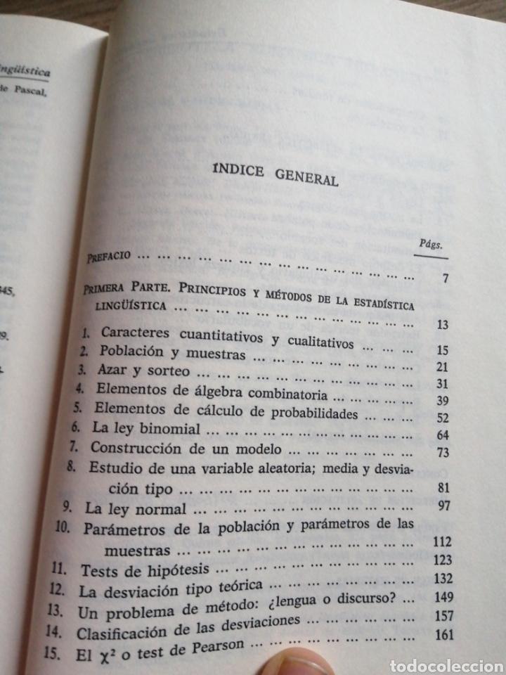 Libros: Estadística lingüística - Foto 4 - 261121550