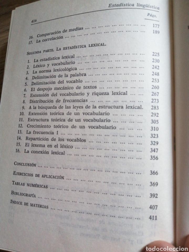 Libros: Estadística lingüística - Foto 5 - 261121550