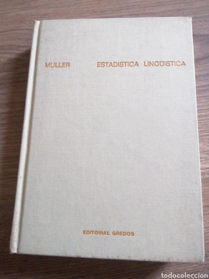 ESTADÍSTICA LINGÜÍSTICA (Libros sin clasificar)