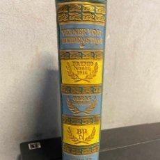 Libros: BEIDENSTAM, VERNER VON. - OBRAS ESCOGIDAS. TOMO I.. Lote 261587520