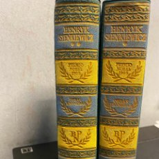 Libros: SIENKIEWICZ, HENRYK. - OBRAS ESCOGIDAS. TOMO I Y II.. Lote 261587595
