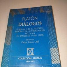 Libros: DIÁLOGOS. PLATÓN.. Lote 262298020