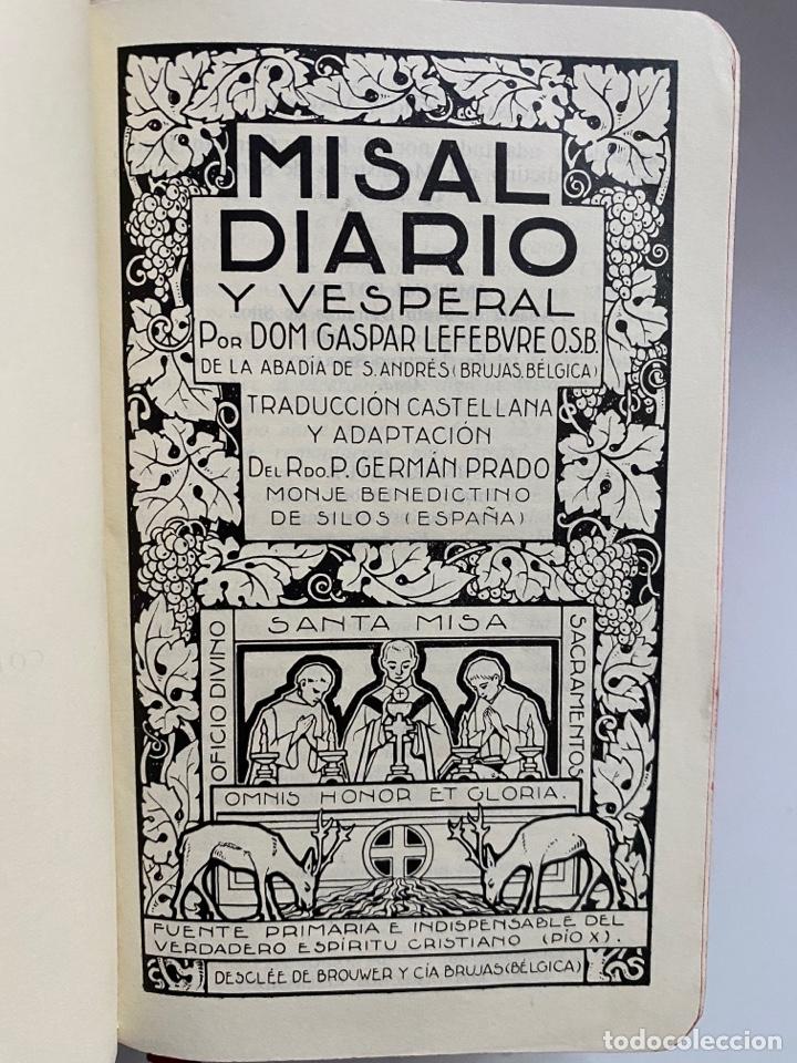 Libros: Misal diario y vesperal - LEFEBVRE, Dom. Gaspar - Foto 3 - 262597370