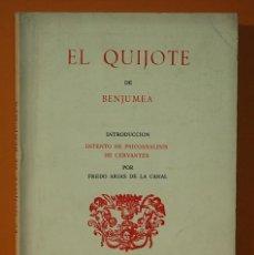 Libros: EL QUIJOTE DE BENJUMEA. FREDO ARIAS DE LA CANAL. EDICIONES RONDAS. 1986. Lote 263069790
