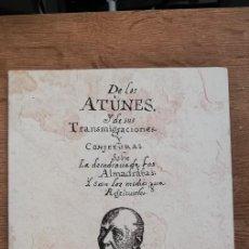 Libros: DE LOS ATUNES Y DE SUS TRANSMIGRACIONES, FRAY MARTÍN SARMIENTO. 1997. Lote 263132690
