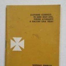 Libros: SOCORRISMO ACUATICO. NORMAS SIMPLES PERO FUNDAMENTALES PARA ACTUACION. 1967. TDK176 -. Lote 263168030