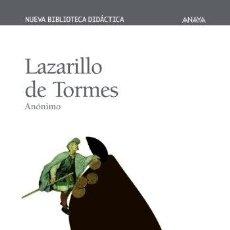 Libros: LAZARILLO DE TORMES (NUEVA BIBLIOTECA DIDÁCTICA) - ANONIMO. Lote 263193525